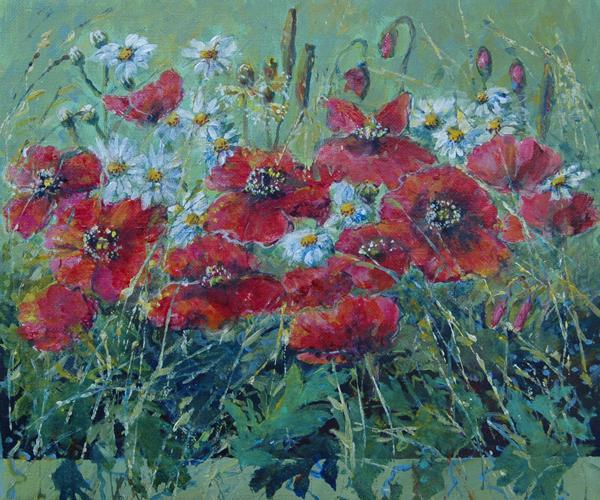 Røde Valmuer 25x30 cm