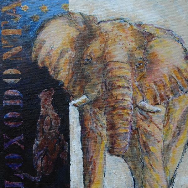 Loxodonta. Afikansk Elefant. 30x30x4