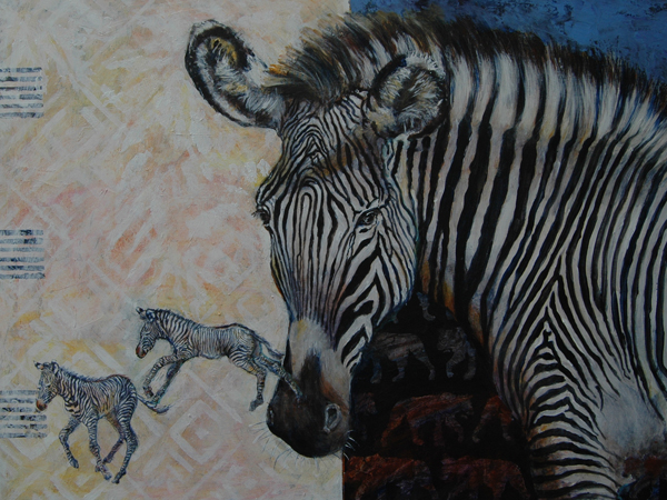 Grevys Zebra 50x80x4