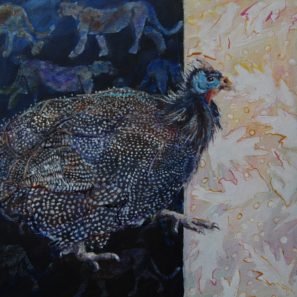 Guinea Fowl 30x30x4