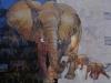 Loxodonta. Afrikanske Elefanter 60x80x4