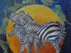 Zebrakomposition. 30x30 + ramme. Solgt