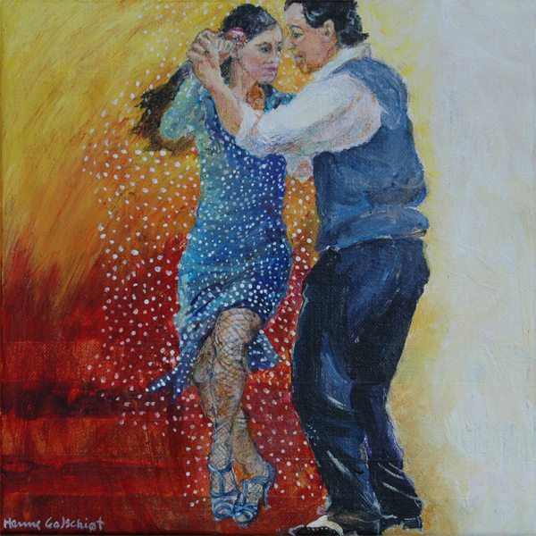 Tango i Buenos Aires 25x25 + ramme.
