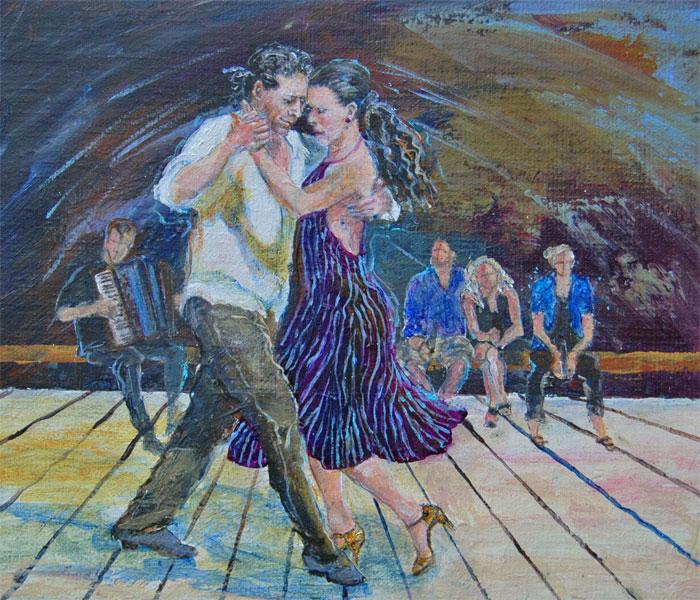 Tangodans     25x30 + ramme         Solgt