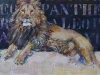 Panthera Leo 30x30x4. SOLGT